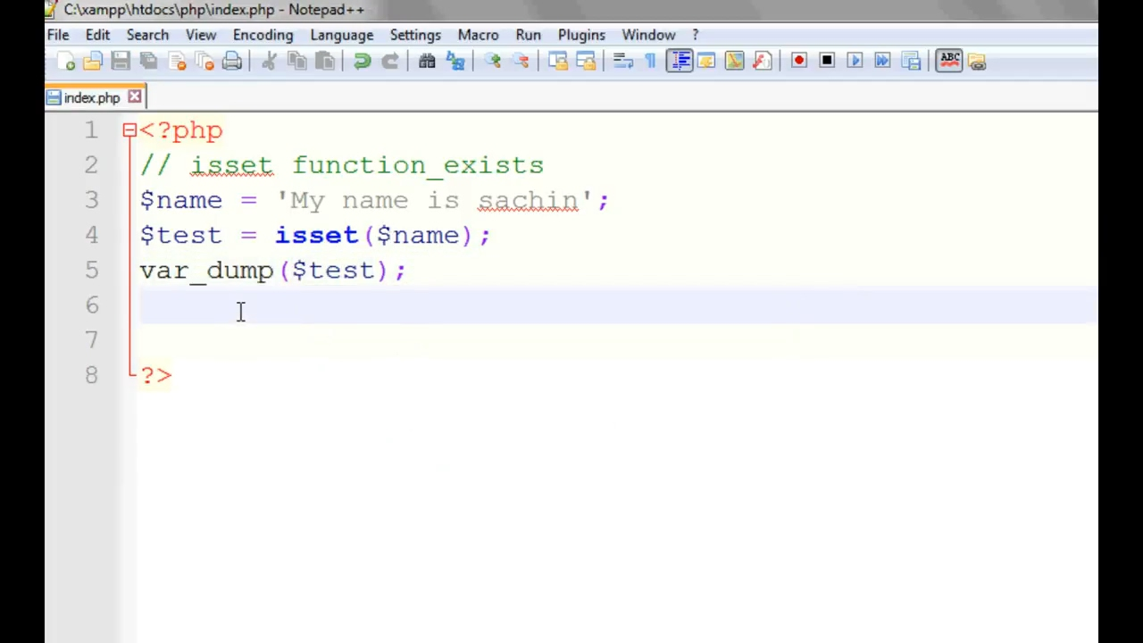 PHP isset and empty funtion