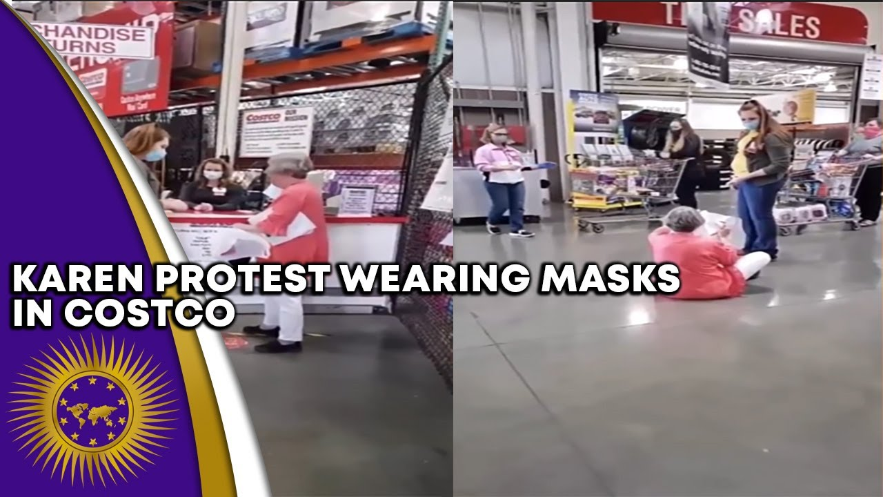 Karen Sits In The Middle Of The Floor At Costco To Protest Wearing A Mask Inside Store