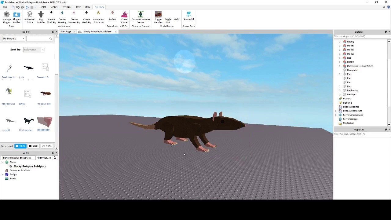 Roblox Studio Tutorials Pt2 How To Rig Models - how to make a custom hair model in roblox