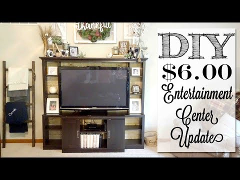 DIY $6.00 Entertainment Center Update