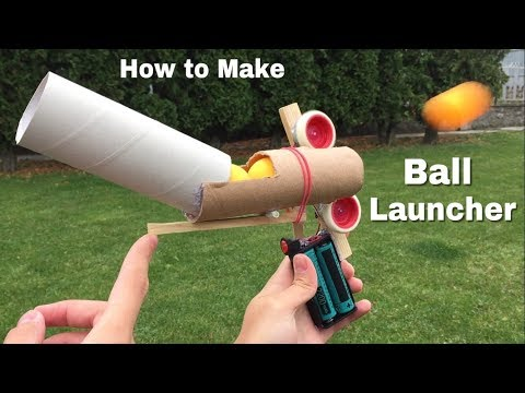 Download Youtube: How to Make Ping Pong Ball Launcher at Home - Full Auto Electric Machine Gun