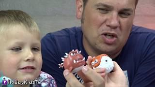 NEW De-Formers Video Game + Skit! Sumo Boppers + Family Fun HobbyKidsTV