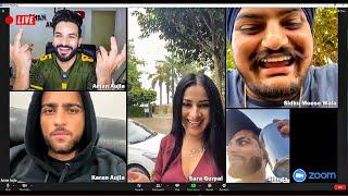 LIVE VIDEO CALL with SIDHU , KARAN AUJLA , SARA GURPAL & SINGGA | Aman Aujla