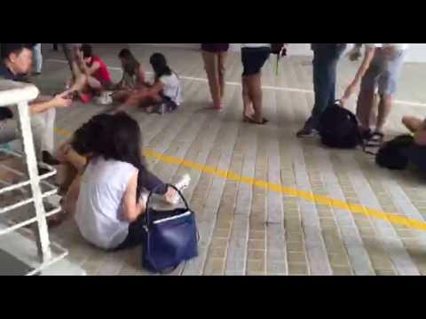 The queue at the Singapore Indoor Stadium for Ed Sheeran concert tickets