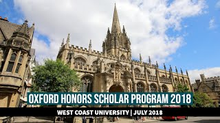 Oxford Honors 2018: The Program