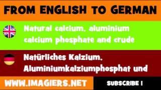 DEUTSCH   ENGLISCH  = Natürliches Kalzium, Aluminiumkalziumphosphat und rohe natürliche Kaliumsalze