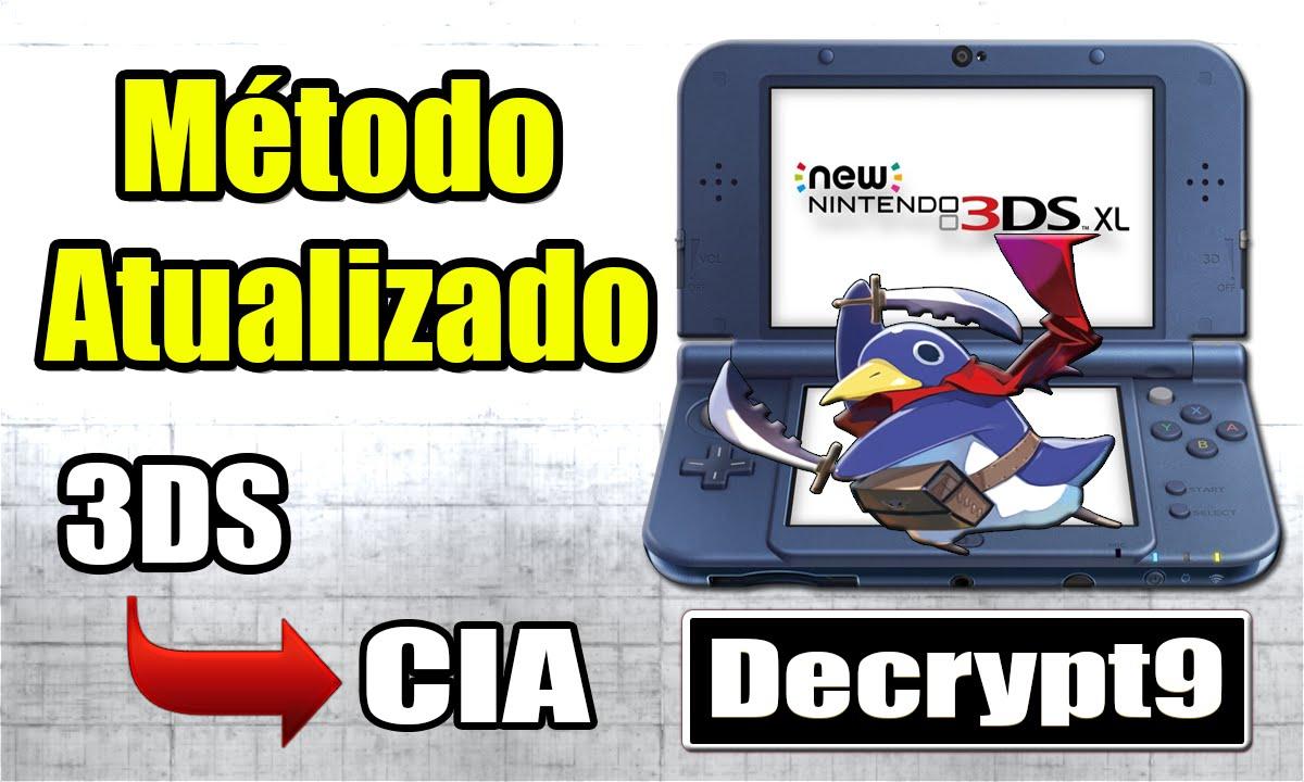 [3DS] Como converter jogos em massa de  3DS/3DZ para  CIA (funciona em  10 x/A9LH)