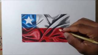 How to draw flag Chile I Como desenhar a bandeira do Chile - Atevaldo Novais