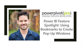 Power BI ميزة الضوء: استخدام الإشارات المرجعية لإنشاء النوافذ المنبثقة