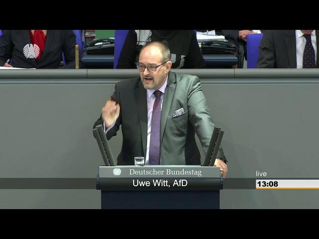 18.01.2019 Deutscher Bundestag Uwe Witt (AfD) zur Berechnung von Wohnkosten in der Grundsicherung