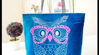 Пляжные сумки оптом(Мудрая сова сопроводит и поможет вам на протяжении всего лета!)) Размер: 40 х 32 х 10 см Материал: парусина (плотн..., 2016-04-16T08:03:35.000Z)