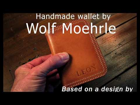 handmade leather Wallet wm17959