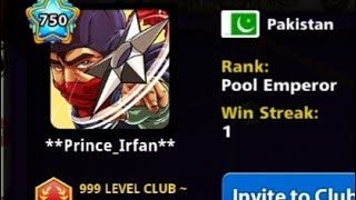 Big levels plyr in venice 8 ball pool by miniclip