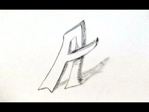 How To Draw English Alphabet Letter A How To Write 3d Letters