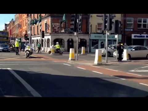Irish Police & Army VIP protection convoy at work