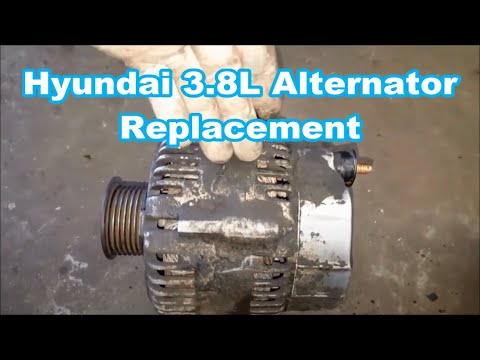 HYUNDAI VERACRUZ ALTERNATOR REPLACEMENT 2007-2012 how to replace EASY QUICK VERSION