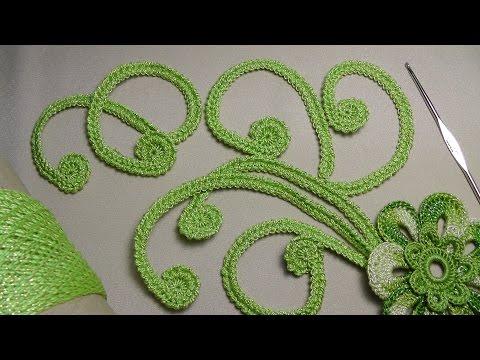 Вязание крючком с элементами ирландского кружева