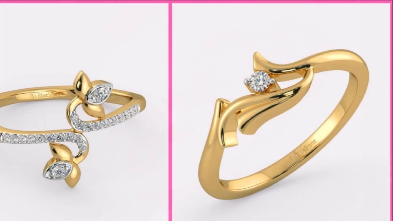 Simple Gold Ring Designs for Female/Latest Designer Gold Rings ...