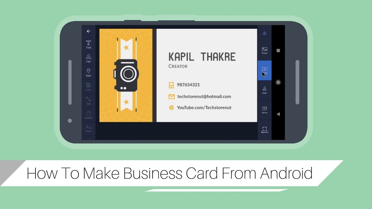 How to make business cards using android phone youtube how to make business cards using android phone magicingreecefo Image collections