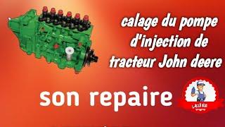 Calage pompe injection de tracteur JOHN DEERE