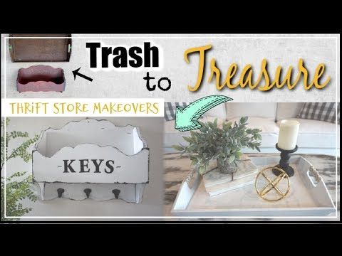Trash To Treasure DIY Farmhouse Thrift Store Makeovers | Momma From Scratch