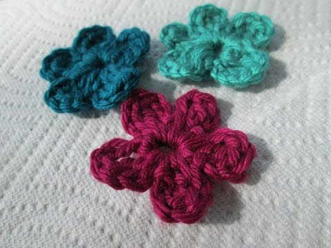 Vol 16 Crochet Pattern How To Crochet A Small Flower Youtube