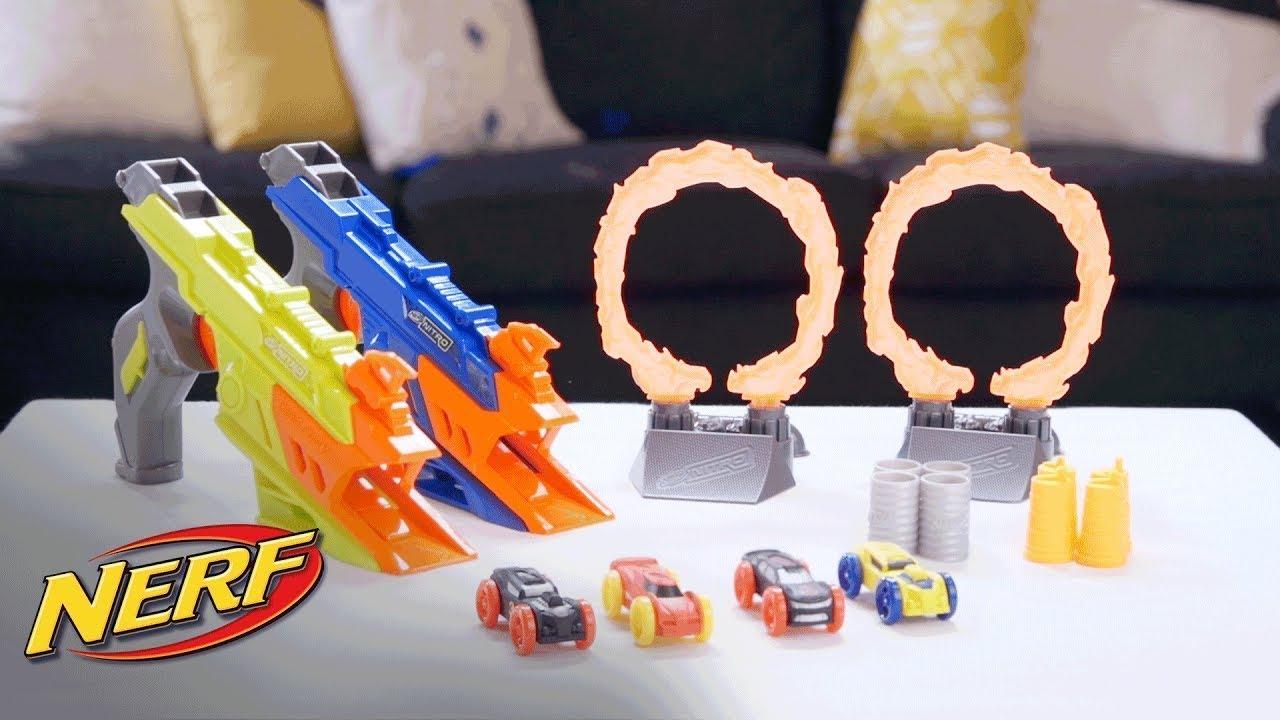 Nerf NITRO Flash Fury AUTO BLASTER PISTOLA Caos Playset