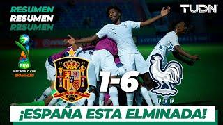 Resumen y Goles | España 1 - 6 Francia | Mundial Brasil Sub-17 - 4tos. de Final | TUDN