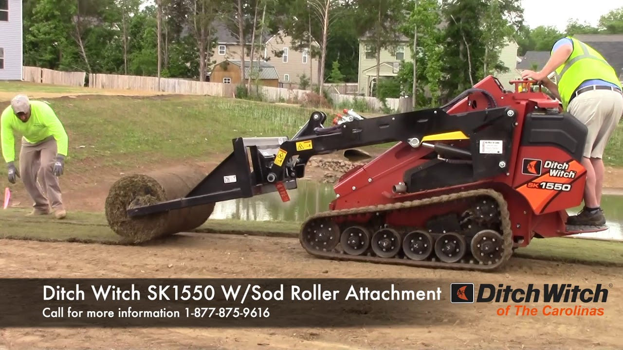 Ditch Witch SK1550 With Sod Roller attachment