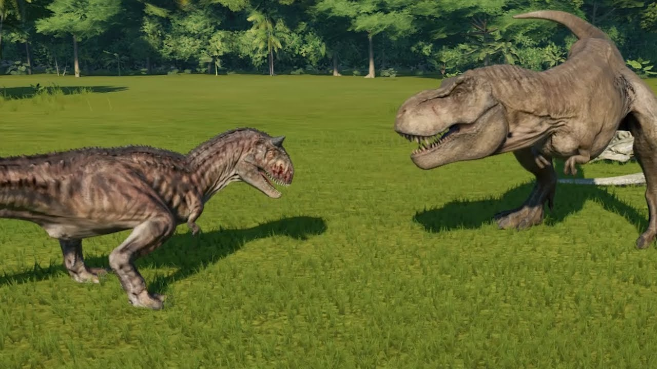 Carnotaurus(Modified) VS T-Rex, I-Rex, Spinosaurus ...Giganotosaurus Vs Spinosaurus