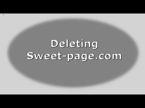 how to remove sweet page from chrome manually