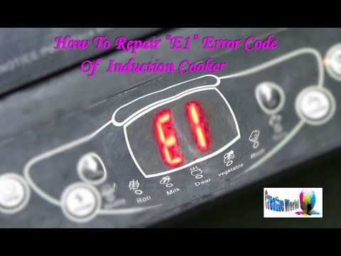 "How To Repair ""E1"" Error Code Of A Induction Cooker (Very Useful) - Bengali Tutorial"