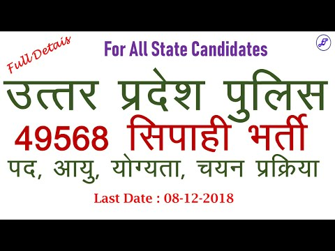 UP Police Constable भर्ती की पूरी जानकारी | UP Police Constable Bharti 2018 | Employments Point