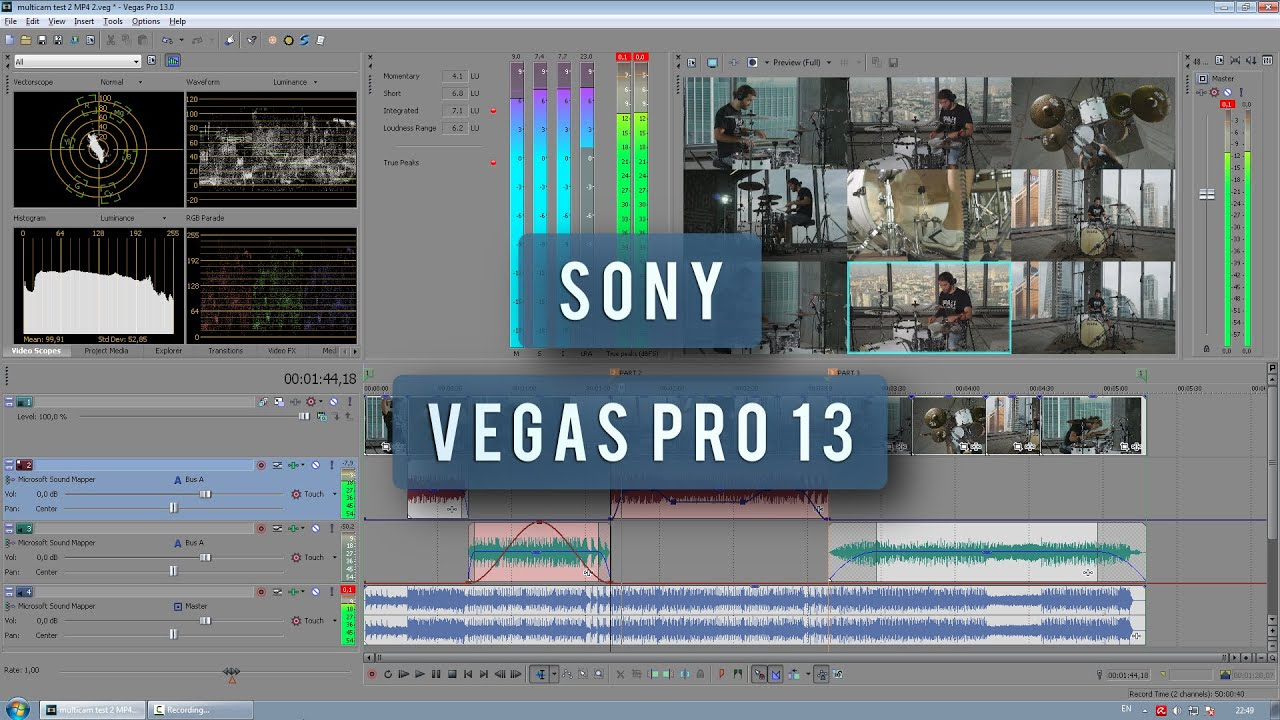 sony vegas pro 13 how to re connect