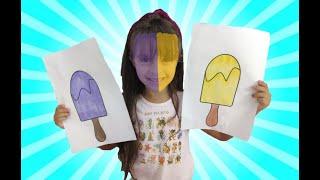 JULIA  BRINCAR com sorvetes MÁGICOS e COLORIDOS-POPSICLE CHANGE Julia DIFFERENT COLORS! Learn Colors