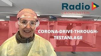 Radio L in der Corona-Drive-Through-Testanlage