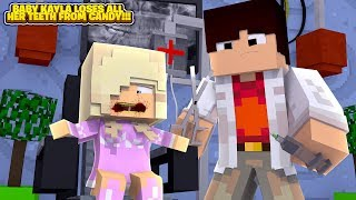 Minecraft THE DENTIST PULLS OUT ALL OF BABY KAYLA'S TEETH!!!