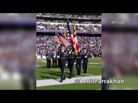 Farrakhan on Department Of Defense pays NFL millions to play the national anthem at football games