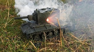 КВ-2 з пластиліну, ПІДРИВАЄМО петардами, імітація арти, World of Tanks