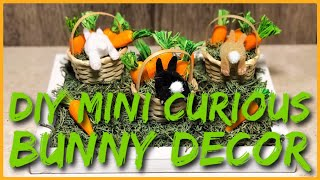 DIY Mini Curious Bunny Rabbit Room Decor - Quick & Easy - Dollar Tree & Hobby Lobby