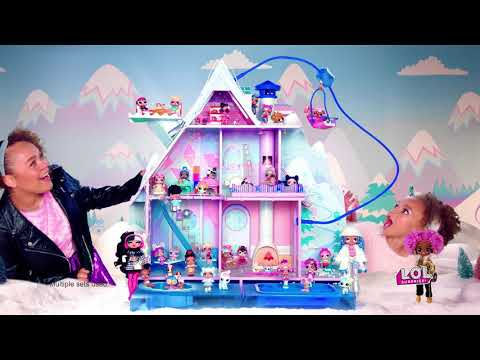L.O.L. Surprise! Winter Disco Chalet Doll House with 95+ Surprises - Smyths Toys