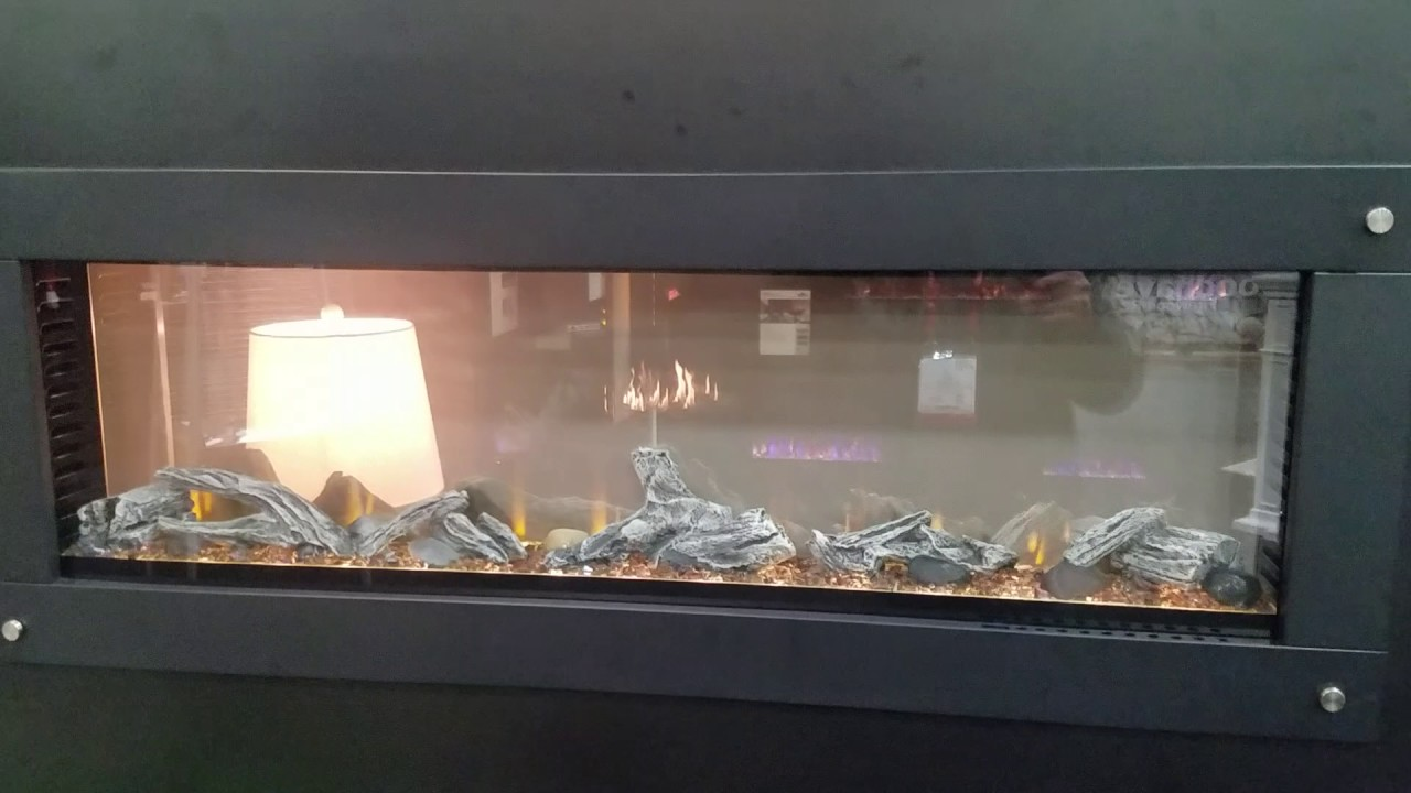 Napoleon See Through Electric Fireplace - YouTube