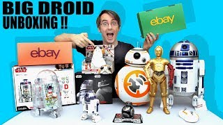 Star Wars Droid BIG Toy Unboxing, Sphero, LittleBits, BB-8, C-3PO, R2-D2