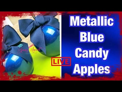 HOW TO ACHIEVE METALLIC BLUE CANDY APPLES
