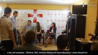 Láss jól kampány sajtótájékoztatója, Karda Bea, Adri, Örkényi