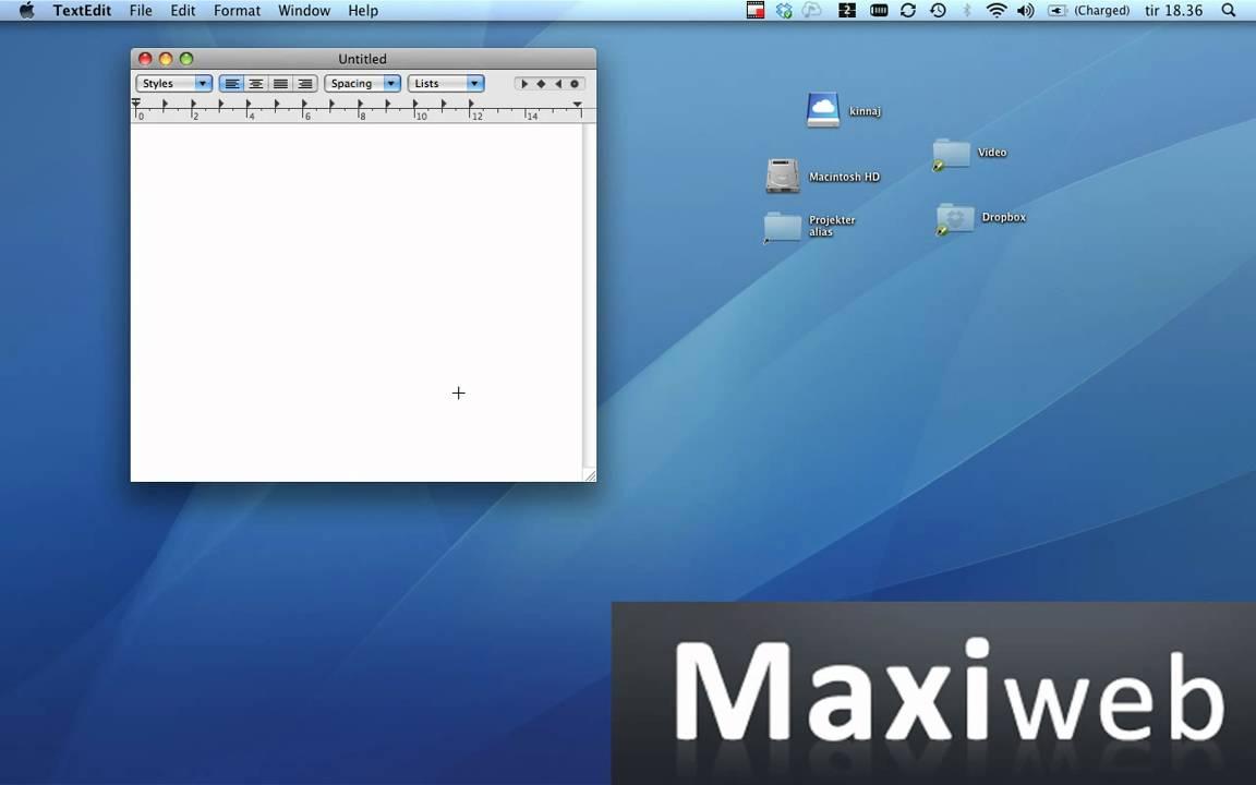 hur får man snabel a på mac