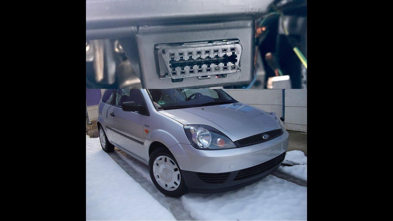 Ford Fiesta 2003 OBD2 Port Location
