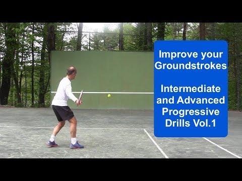 Tennis Drills: Progressive Groundstroke Wall Drills Volume 1