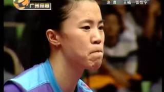 Wang Nan vs.  Zhang Yi Ning World Cup Table Tennis 2007