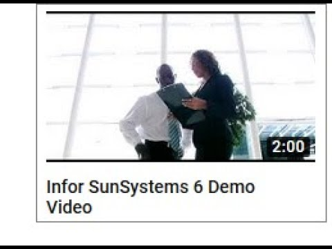 SunSystems 6 Demo Video